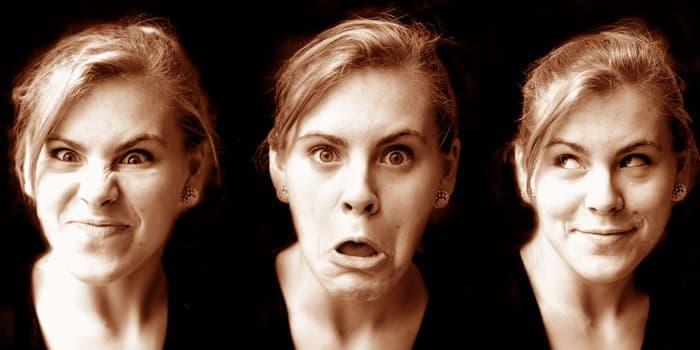 Жена, Емоции, гримаси