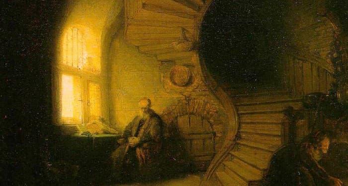 Философ в медитация