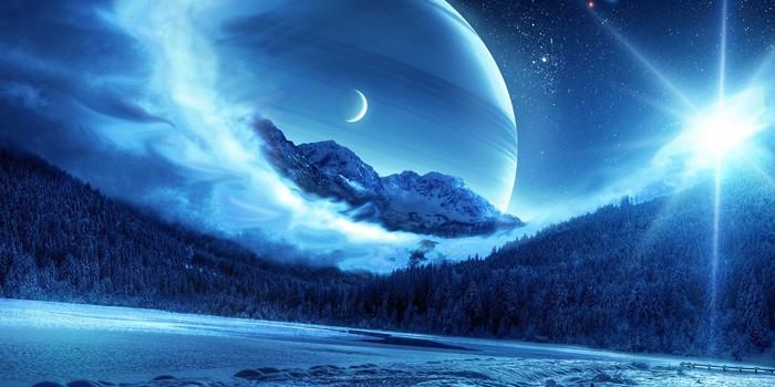 Пейзаж в синьо